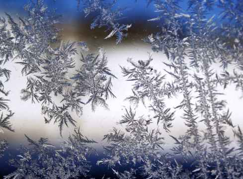 christmas cold frost glass