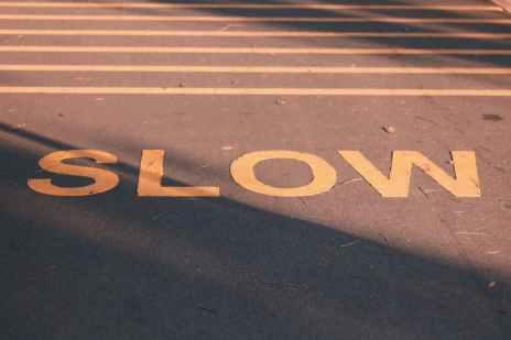 slow signage